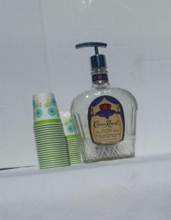Crown Royal mouthwash dispenser.Christmas gift,750 ml liquor,chrome finish pump.Christmas gift for him.white elephant gift