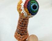 Monster Eyeball Finger Puppet - Orange (Small)