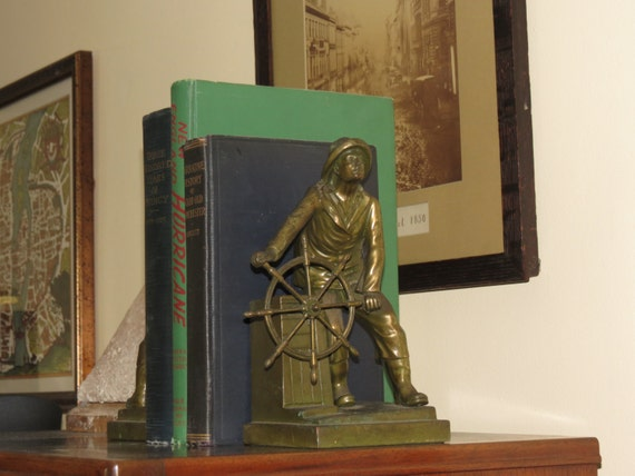 Antique Gloucester Fisherman Bookends Jennings Brothers