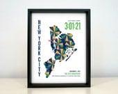 Personalized New York City Marathoner Map