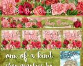 Vintage Roses floral Etsy shop Banner graphics set by Sea Dream Studio  OOAK