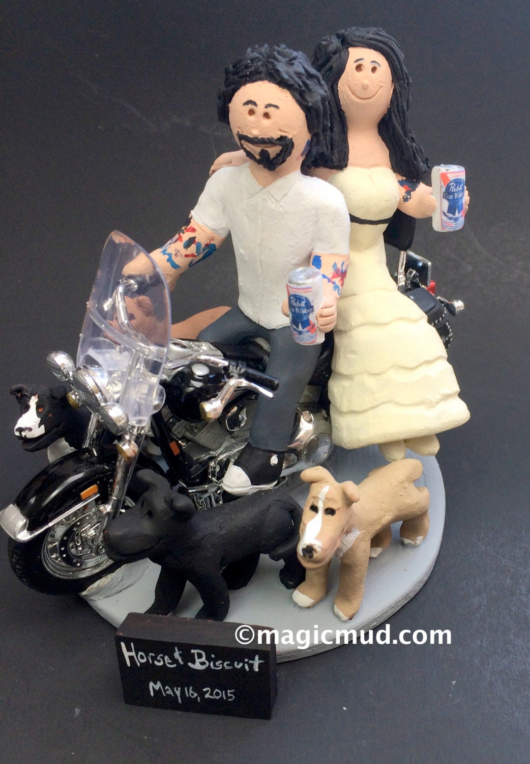 harley wedding cake topper pabst blue ribbon wedding cake topper 15084