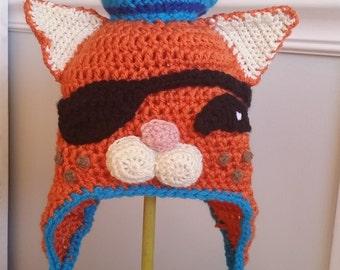Crochet Kwazii the Octonaut Hat - crochet beanies for girls - crochet beanies for boys - Nickelodeon hats for kids - cartoon hats