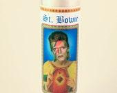 "David Bowie ""St. Bowie"" prayer candle - Starman prayer"