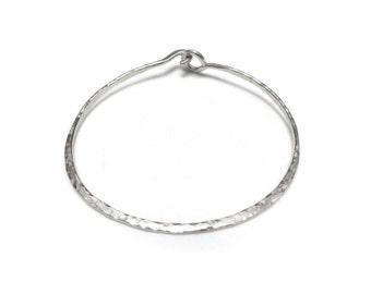Silver Bangle Bracelet, Hammered Silver Bangle, Minimalist Jewelry, Unisex Jewelry, Silver Bracelet, Unisex Bracelet, by Durango Rose