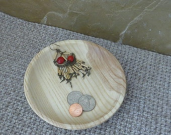 Shallow Wee Bowl - Hand Turned Wood - Maple