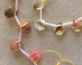 Cherry Quartz Briolettes  (Item # 5444)