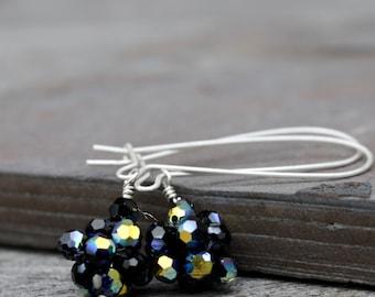 Black Swarovski Crystal Earrings