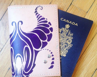 Screen Printed Passport Case- Cha Cha Handbags