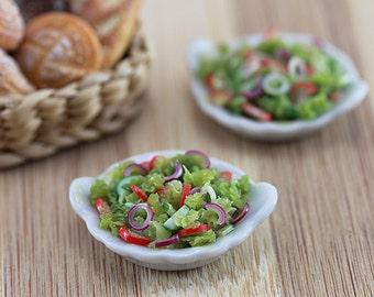 Vegetable Salad - 1/12 Scale Dollhouse Miniature Food