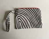 Black White and Red Wristlet