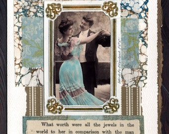 The Man She Loved Collage Card Engagement Wedding Anniversary
