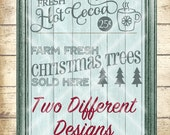 Christmas SVG Files - Winter cut files - Christmas Tree svg  - Hot Cocoa svg  - svg, dfx, png and jpg files available - Instant Download