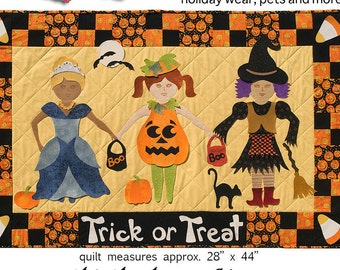 Paper doll Quilt BFF Trick or Treat