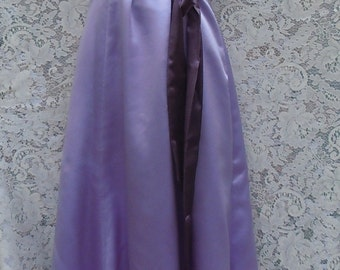 Purple satin dress  formal gown bridesmaid lavender lilac  small  from vintage opulence on Etsy