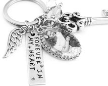 Personalized Memorial Keychain, Photo Key Chain, Memorial Gift, Memorial Key Ring, Picture Key Chain