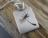 Handmade Dandelion Seed Memorial Scholarship Fundraiser Sterling Silver Pendant