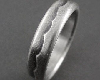 Sterling Silver Wave Wedding Ring