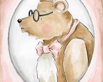 The Portrait Series Mr Bear Art Print Nursery Art Nursery Decor