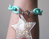 Chunky Glitter Star Bracelet