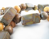 Weathered Bark Necklace and Earring Set