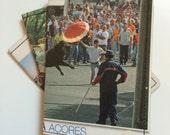 Slim Wallet- Vintage Portugal Postcard- choose 1