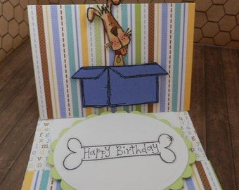Greeting Card Happy Birthday Pop Up Fun Fold Dog Themed Birthday