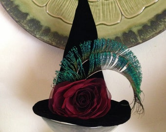 Witch Hat, Witches Mini Hat, Top Hat, Halloween Costume Fascinator
