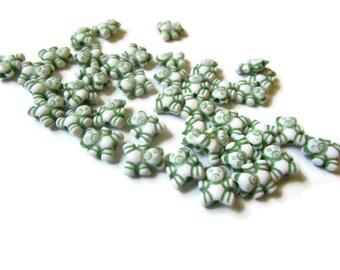 100 Green Bear Beads Teddy Bear Beads Plastic Beads Miniature Animal Kawaii Beads Acrylic BeadsCute Beads Toy Beads Small Beads
