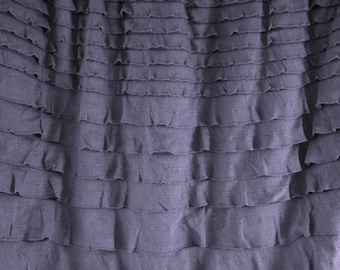 Ruffle Fabric - 1 yard of crescendo ruffles in Shadow Grey