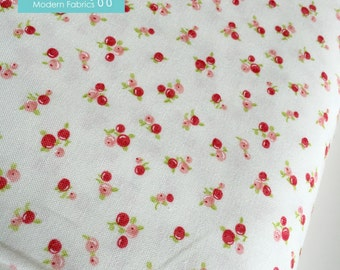 SALE Little Ruby fabric, Little Berries Ivory by Bonnie and Camille, Tiny print fabric, Ivory fabric, Small print fabric, Choose the cut