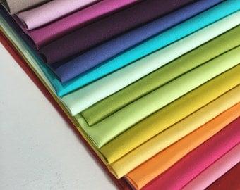 Art Gallery solid fabrics, Pure Elements fabric, Solid fabric, Discount fabric, Sale fabric bundle, Bundle of 15 fabrics, You Choose the Cut