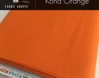 Kona cotton solid quilt fabric, Kona ORANGE 1265, Kona fabric, Solid fabric Yardage, Kaufman, Orange fabric, Choose the cut