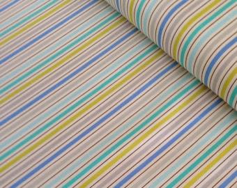SALE fabric, Stripe fabric, Boy fabric, Baby fabric, Nursery fabric, Kumari Garden Fabric, Dena Designs  Tanaya in Blue, Choose your cut
