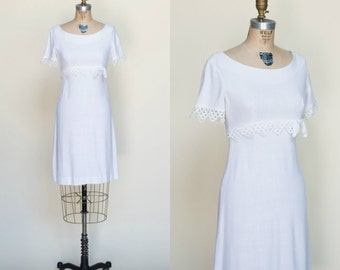 1960s Betty Barclay --- Vintage White Dress
