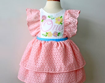 First Birthday Party Dress, Pink
