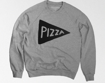 Pizza Crewneck Sweatshirt, gift for him, teen sweatshirt husband gift, boyfriend gift, mens gift, dad gift, teen gift, cozy sweatshirt
