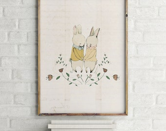 Woodland poster, Woodland nursery decor, baby shower decorations, Woodland nursery wall art, Woodland animal nursery, girl nursery decor