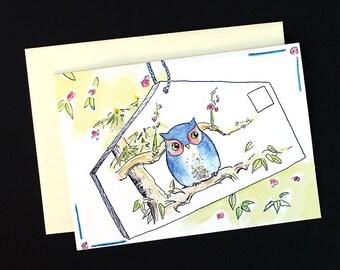 Owl Birthday Card