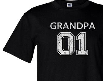 Grandpa varsity style tshirt, gift for grandpa, personalized grandpa, papa gift, christmas gift men, father's day gift, grandfather shirt