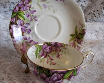 Royal Standard Fine Bone China Wistaria Pattern