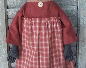 Primitive Hand Made Cloth Doll Folk Art