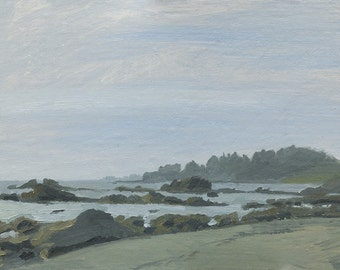 Original Plein Air Oil Painting, McVay Beach, Brookings, Oregon
