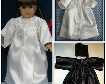 """Graduation Cap & Gown - 18"""" to 20"""" Doll E-Pattern"""
