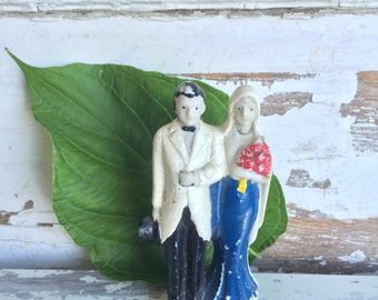 Vintage Bride and Groom Cake Topper -Occupied Japan