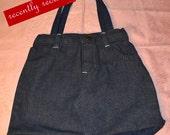 On Sale..  Recently reduced Machine Washable Cotton Denim Jeans Shopping Bag-Purse