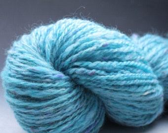 Handspun Yarn 2-ply - Confetti - Turquoise