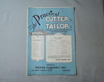 Vintage 1950s Menswear - The Practical Cutter and Tailor Spring & Summer 1951, trade magazine for tailors menswear, womenswear