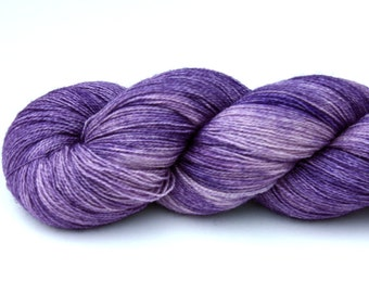 Aster--hand dyed lace weight yarn, BFL and silk, (875yds/100gm)