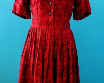 1950s Wool Shirtdress